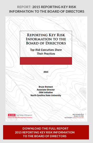 Reporting Key Risk Information To The Board Of Directors  Erm